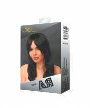 Парик АЯ с черными длинными волосами и челкой