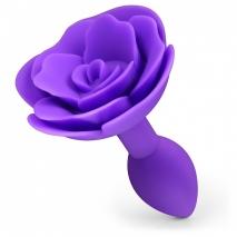 Силиконовая фиолетовая втулка с розочкой