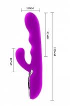Перезаряжаемый вибратор для G-стимуляции PASSION (10 режимов)