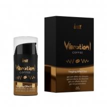 Жидкий вибратор с согревающим эффектом и ароматом кофе Vibration! Coffee (15 мл)
