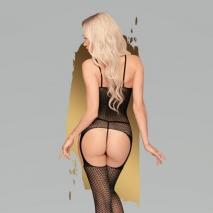 Черный боди-комбинезон Penthouse Hot nightfall XL