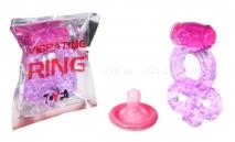 Виброкольцо на член и мошонку Vibrating Ring фиолетовый