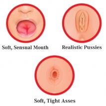 Две куколки для любви с реалистичной вагиной и анусом Slutty Sisters