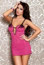 Мини-платье сетчатое розовое