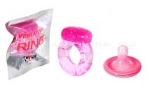Эрекционное кольцо Vibrating Ring розовый