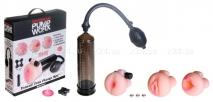 Вибропомпа с тремя реалистичными насадками Pump Worx Travel Trio Pump Set