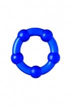 Набор из 3-х эрекционных силиконовых колец Штучки Дрючки (синие)
