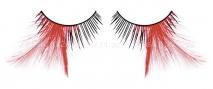 Ресницы черно-красные перья