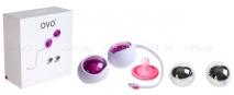 Любовные шарики OVO с дополнительным комплектов шаров фуксия, хром