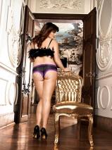 Трусики женские с фиолетовым кружевом Q-size