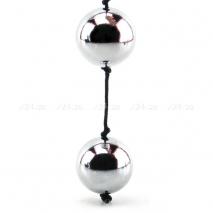 Очень тяжелые анальные шарики Silver Pleasure Balls