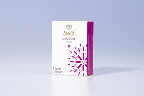 Ароматизированные презервативы AMOR® Fruit 3 шт.