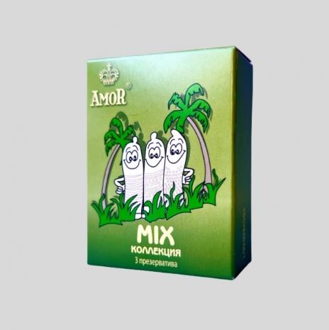 Набор презервативов AMOR® Mix Яркая Линия 3 шт.