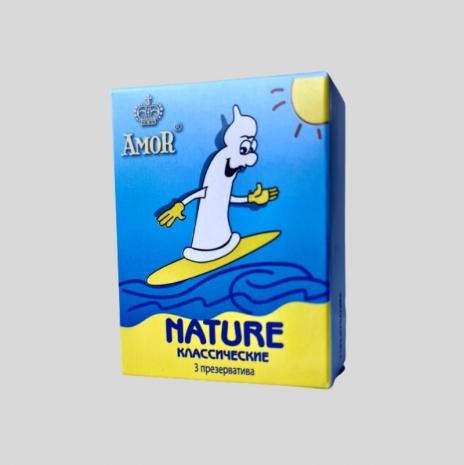Классические презервативы AMOR® Nature Яркая Линия 3 шт.