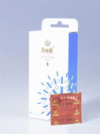Супертонкие* презервативы AMOR® Thin 15 шт.