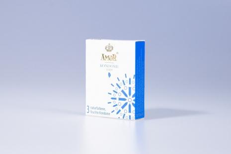 Супертонкие* презервативы AMOR® Thin 3 шт.