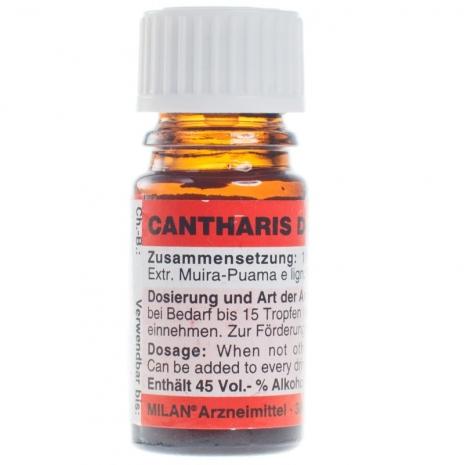 Cantharis D6 (кантаридин) возбуждающие капли для пары (1 фл. 5 мл)