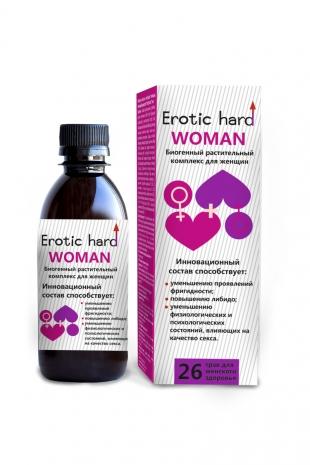 Сироп для женщин «Erotic hard WOMAN» для повышения либидо и сексуальности, 250 мл
