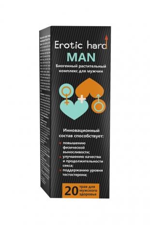 Сироп для мужчин «Erotic hard MAN» , для усиление эрекции, 250 мл