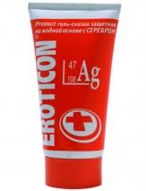 Антибактериальная гель-смазка на водной основе Eroticon Ag защитная, с серебром, 50 мл