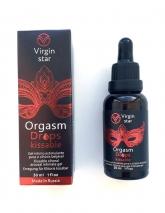 Возбуждающий гель для клитора Virgin Star Orgasm Drops Kissable с разогревающим эффектом (Поцелуй оргазма) 30 мл