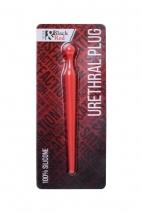 Уретральный силиконовый плаг Black & Red by TOYFA красный, 8 см